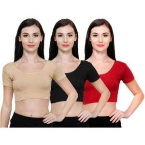 Vami Round Neck Women's Stitched Blouse