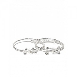 Taraash Kids Set of 2 Sterling Silver Bangles