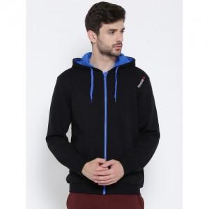 Reebok Men Black Core Hooded Sweatshirt