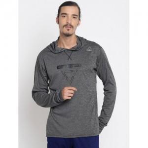 Reebok Men Charcoal COMBAT LIGHTWEIGHT Hooded Sweatshirt