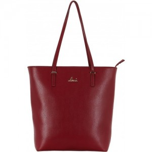 Lavie Maroon Artificial Leather Tote Bag
