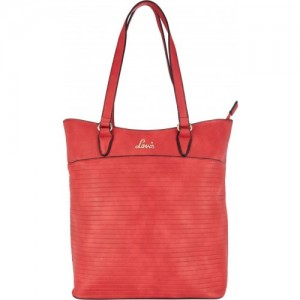 Lavie Red Artificial Leather Tote Bag