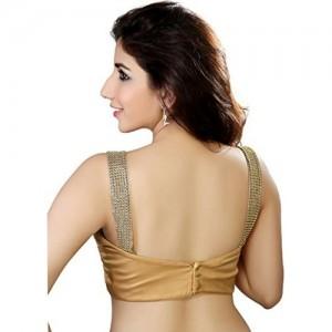 Chunri Golden Sleeveless Georgette Partywear Blouse