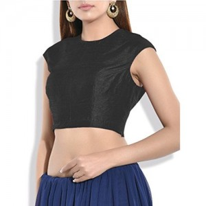 SINGAAR Sleeveless Readymade Blouse Design (All Color Options)- Party Wear - 100% Perfect Fitting - Round Back