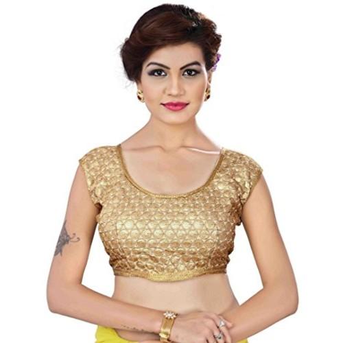 Buy Kuvarba Fashion Golden Fabric Cotton Embroidery Sequence Zari