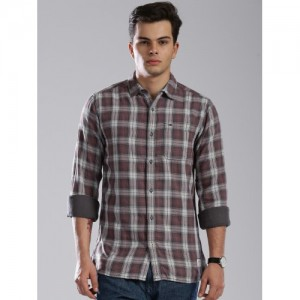 Tommy Hilfiger Mauve Checked Casual Shirt