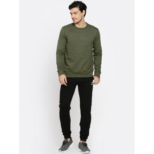 29447ef70d7c Buy Puma Men Olive Green Archive Embossed Logo Sweatshirt online ...
