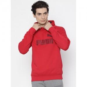 Puma Men Red Hooded Sweatshirt