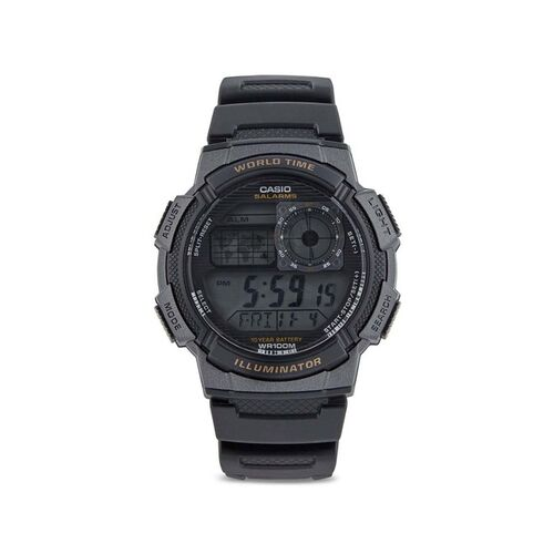 Casio D080 Black Resin Youth Series Digital Dial Watch