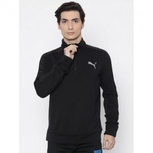 Puma Men Black Solid StretchLite Sweatshirt