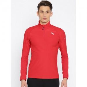 Puma Men Red Solid Sweatshirt