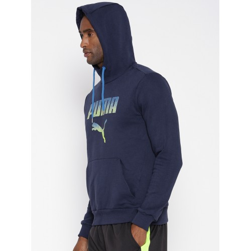 Buy Puma Navy Rebel FL Printed Hooded Sweatshirt online