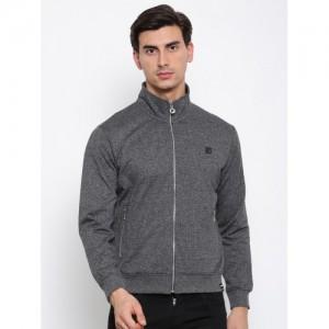 FILA Men Charcoal Grey Solid CANTERO Sweatshirt
