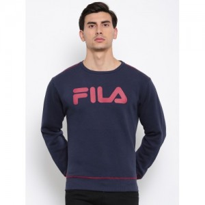 FILA Men Blue Printed SALVADOR F Sweatshirt