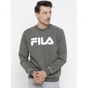 FILA Men Charcoal Grey Printed Sweatshirt