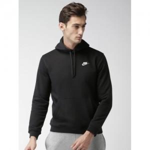 Nike Men Black Solid AS M NSW HOODIE PO FLC CLUB Sweatshirt