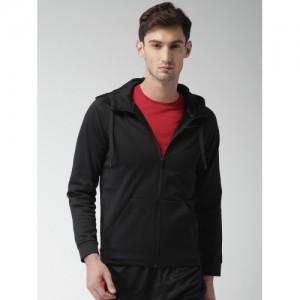 Nike Men Black Solid Hooded Sweatshirt