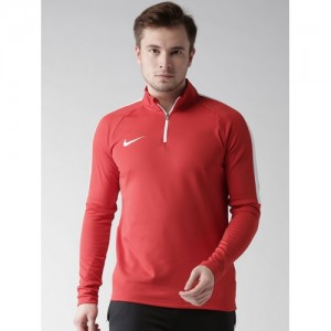 Nike Men Red AS M NK DRY ACDMY DRIL Solid Sweatshirt