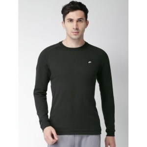 Nike Men Black Solid AS M NSW MODERN CRW FT Sweatshirt