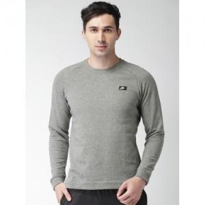 Nike Men Grey Melange Solid AS M NSW MODERN CRW FT Sweatshirt