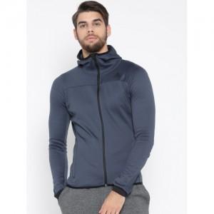 Adidas Men Navy Blue WINOFF P Solid Hooded Sweatshirt