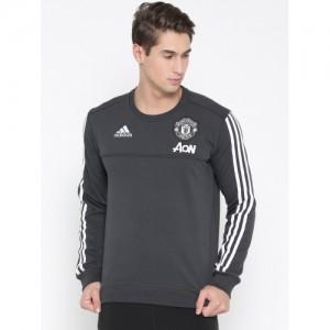 Adidas Men Grey MUFC Sweatshirt