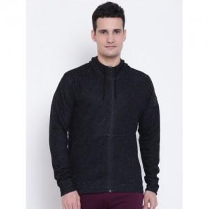 Adidas Men Black ID STADIUM FZ Solid Hooded Sweatshirt