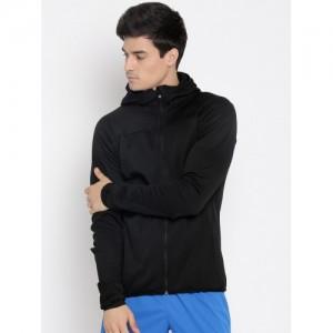 Adidas Men Black Solid Hooded Sweatshirt