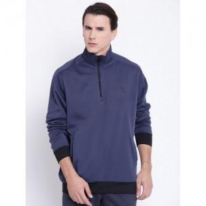 Adidas Men Navy Winter OFFCREWP Solid Sweatshirt