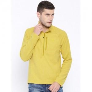 Adidas Mustard Yellow Reachout 1/2 Fleece Sweatshirt