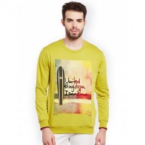 Duke Men Green Printed Sweatshirt