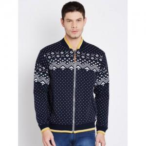 Duke Stardust Navy Printed Sweatshirt
