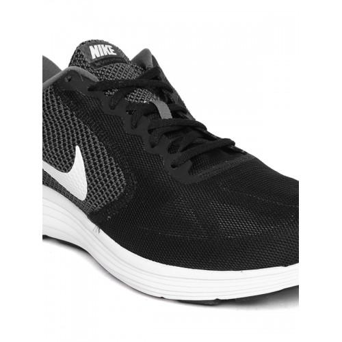 Nike Men Back & Grey Revolution 3 Running Shoes