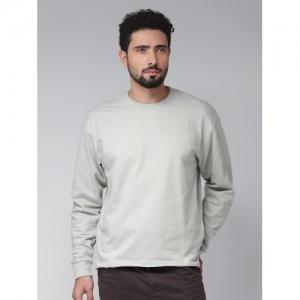 Blue Saint Men Grey Printed Sweatshirt