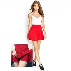 Magna Red Skater Solid Skirt