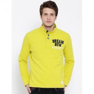 United Colors of Benetton Yellow Sweatshirt