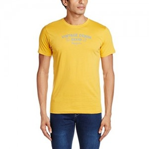 Pepe Jeans Men's Yellow Half Sleeve T-Shirt