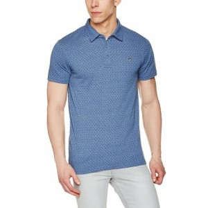 Ruggers Men's Blue Printed Polo T-Shirt