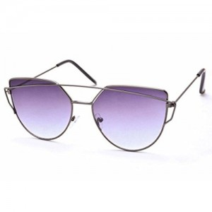 Stacle Crossover Browbar Flash Mirror Cat-Eye Sunglasses (ST11375|56|Multiple Colours)