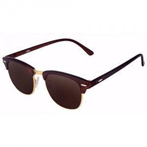 Silver Kartz Clubmaster Unisex Sunglasses(Wy031|40|Brown)