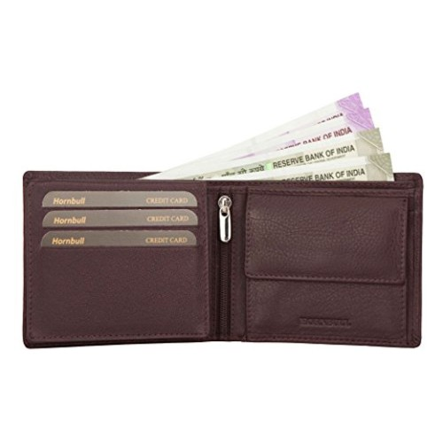 Hornbull Brown Genuine Leather Bi-Fold Wallet
