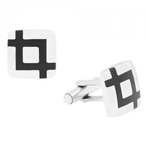 The Jewelbox Glossy Black Cufflink For Men