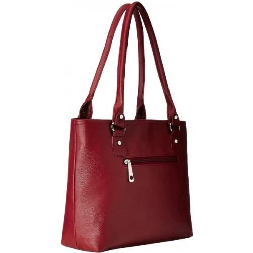 Fantosy Maroon Polyurethane Handbag (Maroon,Fnb-228)