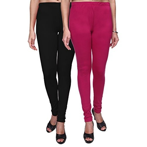 e4b545bed80410 ... Trasa Leggings for Womens and Girls Cotton Lycra Multicolour Churidar  Leggings - Sizes :- M ...