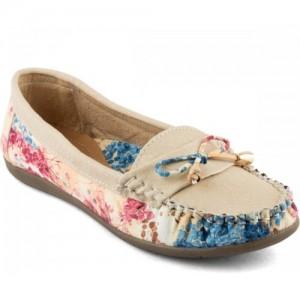 Tashi Stylish Cream Loafers For Women