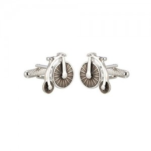 KNIGHTHOOD Stainless Steel Vintage Bicycle Cufflinks For Men