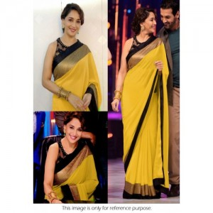 Jhalak Multicolor Brocade Self Design Saree With Blouse
