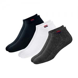 Navy Sport Black & White Solid Ankle Length Socks - Pack of 3