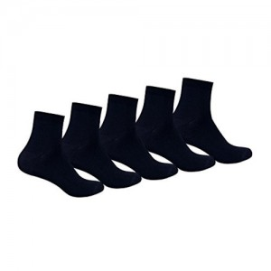 Supersox Kid's Combed Cotton School Socks Pack of 5 (Navy)