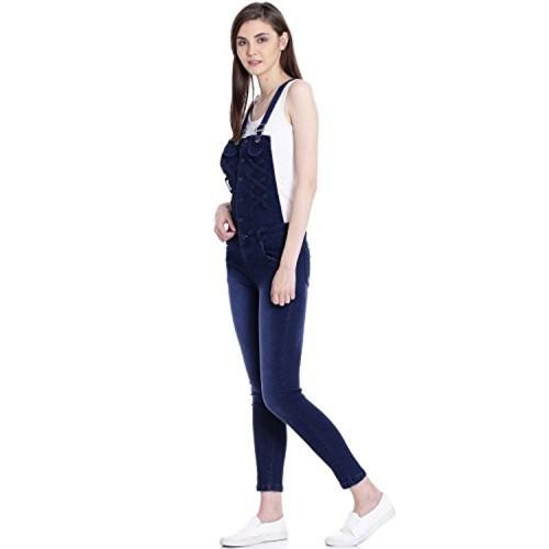 Broadstar Navy Blue Denim Jumpsuit